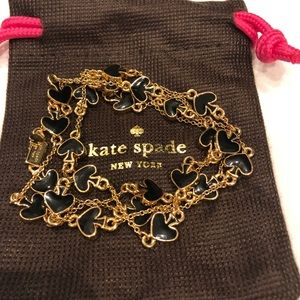 Kate Spade Gold and Black Spade necklace new